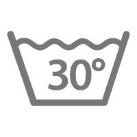 waschbar bis 30 °C