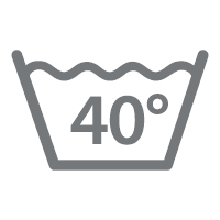 waschbar bis 40 °C